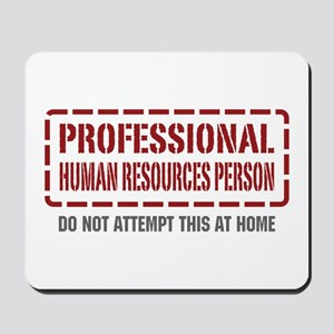 Professional Human Resources Person Mousepad