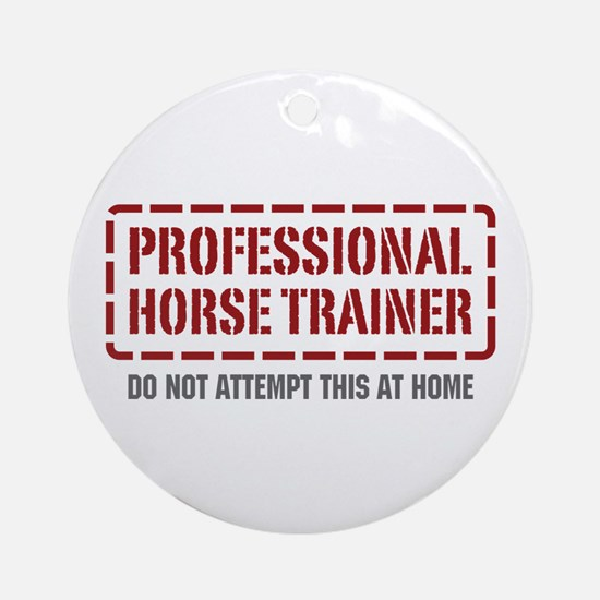 Professional Horse Trainer Ornament (Round)
