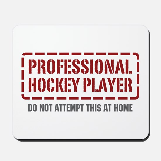 Professional Hockey Player Mousepad
