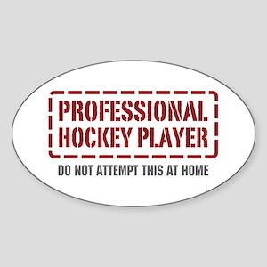 Professional Hockey Player Oval Sticker