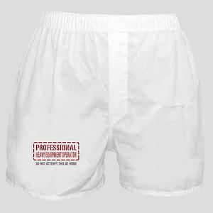 Professional Heavy Equipment Operator Boxer Shorts