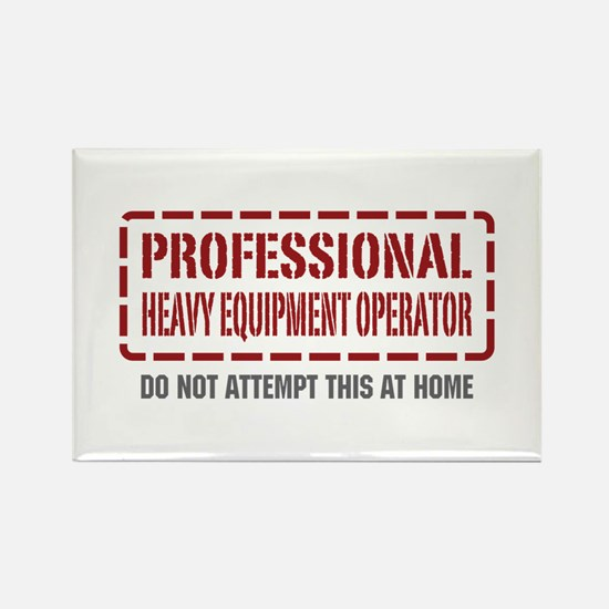 Professional Heavy Equipment Operator Rectangle Ma