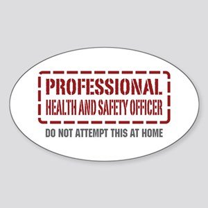 Professional Health and Safety Officer Sticker (Ov