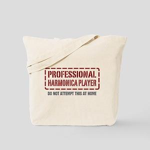 Professional Harmonica Player Tote Bag
