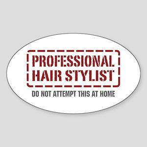 Professional Hair Stylist Oval Sticker