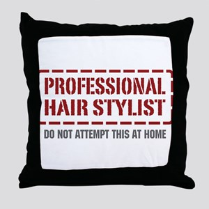 Professional Hair Stylist Throw Pillow