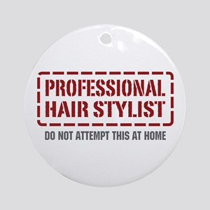 Professional Hair Stylist Ornament (Round)