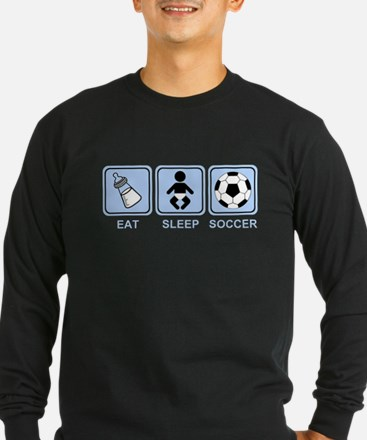 EAT SLEEP SOCCER (baby blue) T