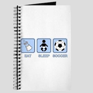 EAT SLEEP SOCCER (baby blue) Journal