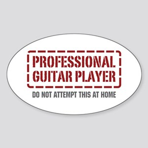 Professional Guitar Player Oval Sticker