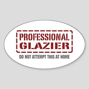 Professional Glazier Oval Sticker