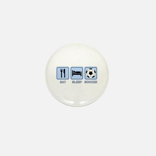 EAT SLEEP SOCCER (blue) Mini Button