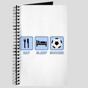 EAT SLEEP SOCCER (blue) Journal