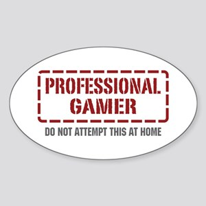 Professional Gamer Oval Sticker