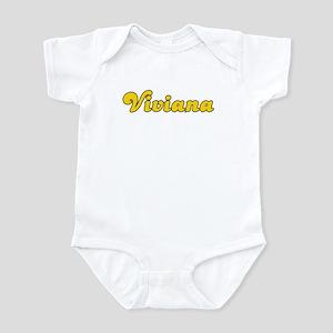 Retro Viviana (Gold) Infant Bodysuit