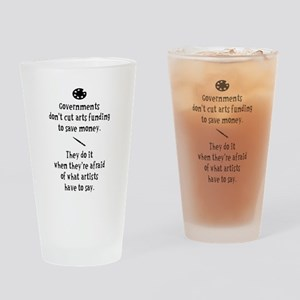 Arts Funding Drinking Glass