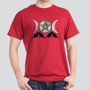 Cats Magic Goddess Pentagram Dark T-Shirt