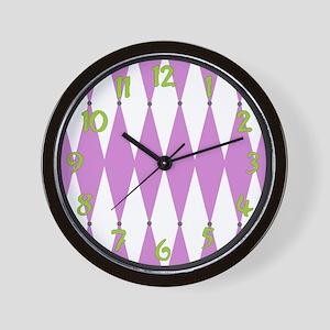 Harlequin Wall Clock<br>(purple)
