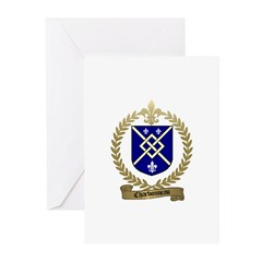 CHARBONNEAU Family Crest Greeting Cards (Package o