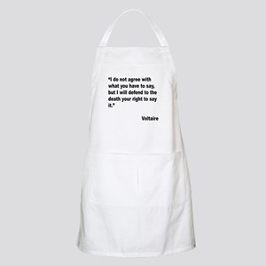 Voltaire Free Speech Quote BBQ Apron