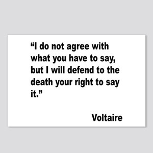 Voltaire Free Speech Quote Postcards (Package of 8