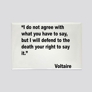 Voltaire Free Speech Quote Rectangle Magnet