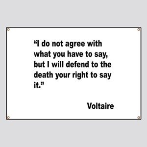 Voltaire Free Speech Quote Banner