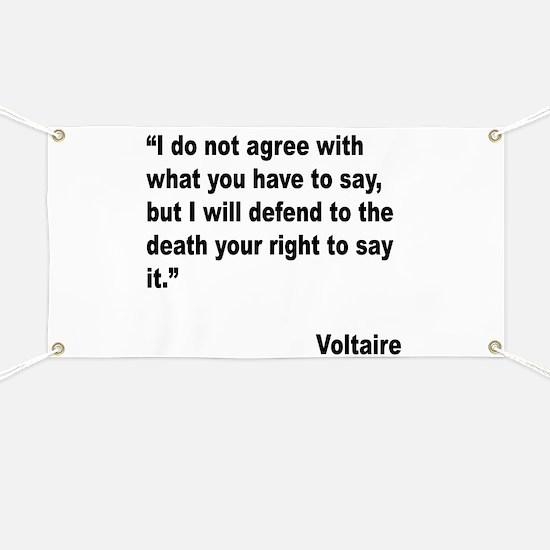 Voltaire Free Speech Quote Banner