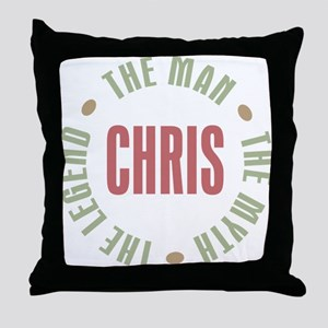 Chris Man Myth Legend Throw Pillow
