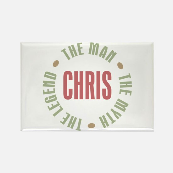 Chris Man Myth Legend Rectangle Magnet