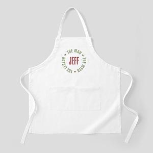 Jeff Man Myth Legend BBQ Apron