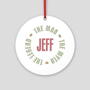 Jeff Man Myth Legend Ornament (Round)