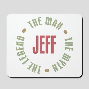 Jeff Man Myth Legend Mousepad