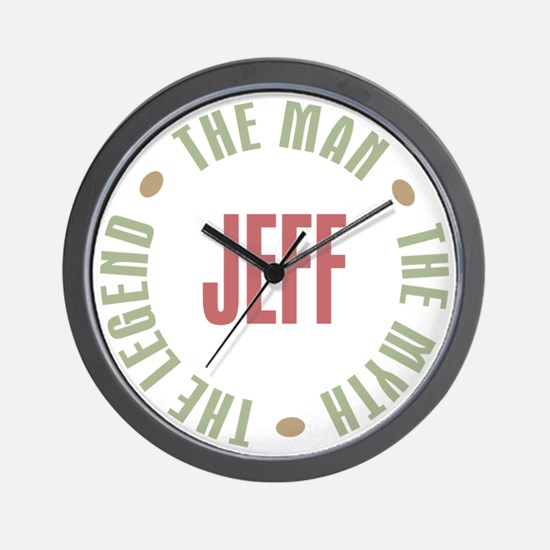 Jeff Man Myth Legend Wall Clock
