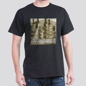 Chess Quote Vintage 1 Dark T-Shirt