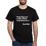Wilde Annoy Enemies Quote (Front) Dark T-Shirt