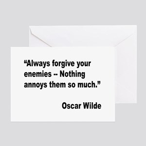 Wilde Annoy Enemies Quote Greeting Card