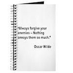 Wilde Annoy Enemies Quote Journal