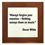 Wilde Annoy Enemies Quote Framed Tile