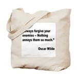 Wilde Annoy Enemies Quote Tote Bag