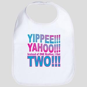 Yippee Twins - Brothers Bib