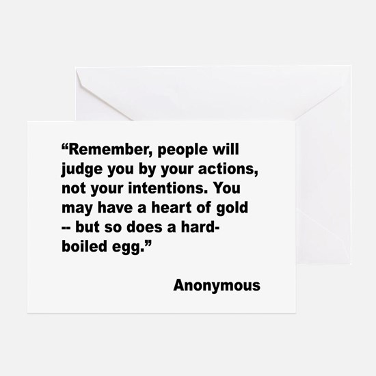 Judge Actions Quote Greeting Card