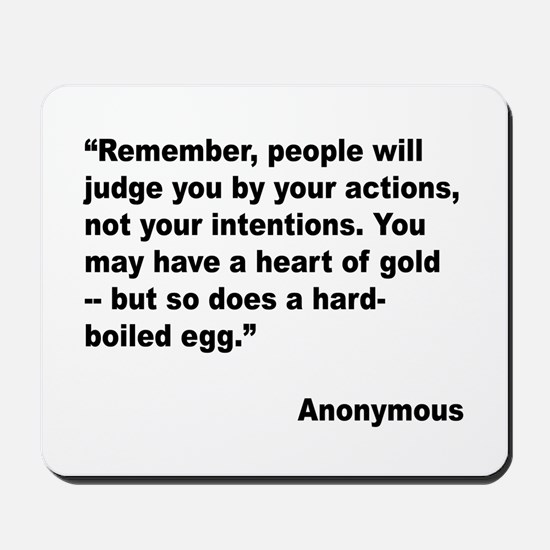 Judge Actions Quote Mousepad