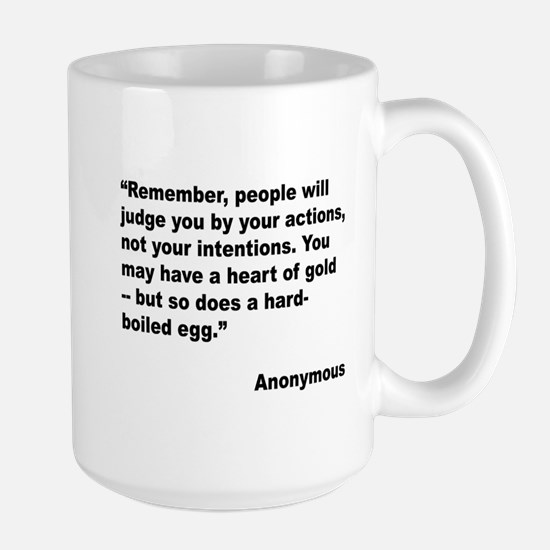 Judge Actions Quote Large Mug