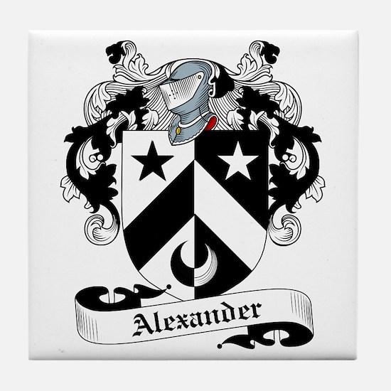 Alexander Family Crest Tile Coaster