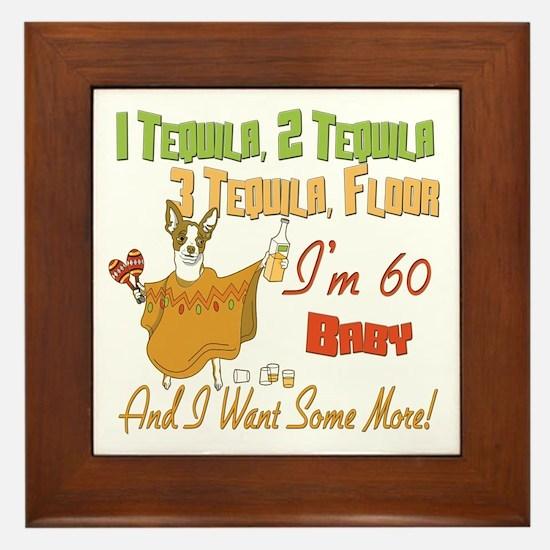 Tequila 60th Framed Tile