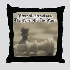 Chess Quote Vintage 3 Throw Pillow