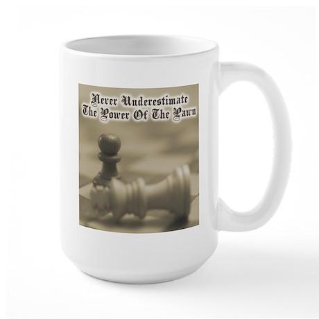 Chess Quote Vintage 3 Large Mug