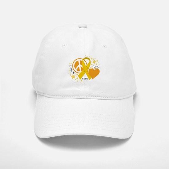 CC Peace Love Cure Baseball Baseball Cap