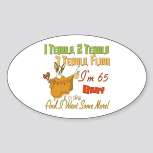 Tequila 65th Oval Sticker